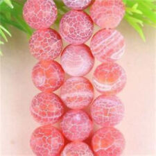 """Beautiful 10mm Red Dream Fire Dragon Veins Agate Gems Round Loose Beads 15"""""""