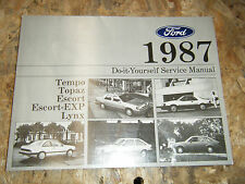 1987 FORD TEMPO ESCORT MERCURY TOPAZ LYNX FACTORY DO IT YOURSELF MANUAL SERVICE
