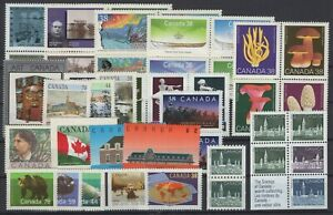 DK150195/ CANADA / Y&T # 1080 / 1122 MINT MNH – COMPLETE YEAR 1989