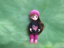 "6"" Bjd Girl + Handmade Clothes Monique Wig Crochet Hat Pink Shoes * Lovewraps"