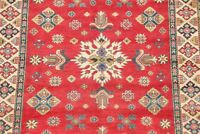 One-of-a-Kind Super Kazak Oriental Area Rug Hand-Knotted Bedroom Wool Carpet 5x6