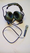 Ex MOD Clansman lightweight headset and microphone assy, NSN 5965 99 620 8320