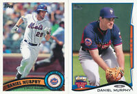 Daniel Murphy lot of 2 different Topps New York Mets baseball cards