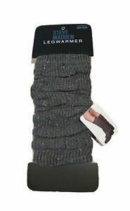 NEW Steve Madden Leg Warmers Dark Gray Speckled Knit Boot Women's