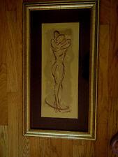 Beautiful Siluette of a nude body of a couple