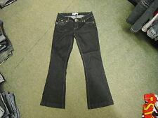 "24/7 Jeans Skinny Flare Taglia 12 Gamba 30"" Sbiadito Jeans Blu Scuro Donna"