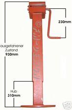 Simol Kurbelstütze, Spindelstütze, 3000 kg  grundiert, 70x70 mm Hub 310 mm