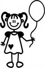 Autocollant ~ My Family Autocollants Voiture ~ ~ fillette avec ballon (yg4)