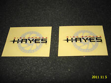 2 SMALL AUTHENTIC HAYES DISC BRAKES STICKERS / DECALS #3 AUFKLEBER