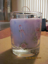 Breast Cancer Candle Holder...sold by Avon...GO GREEN!Upcycled/ Recycled Wax!