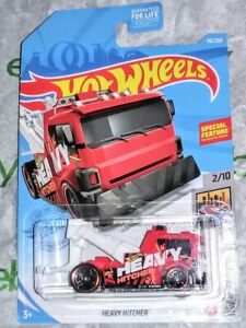 HEAVY HITCHER 2021 HOT WHEELS GARAGE RED WRECKER ☆ BIG RIG TOW TRUCK WENCH