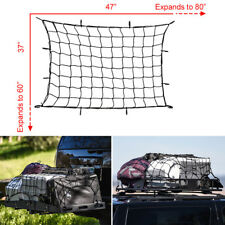 Rack Mesh Barrier Cover Luggage Carrier Cargo Basket Net for Car Roof w/Hooks