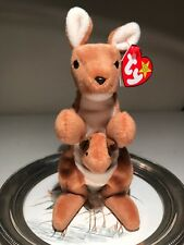"""8a9f46378d5 TY Beanie Baby -1996 """"Pouch"""" the kangaroo! (Retired)"""