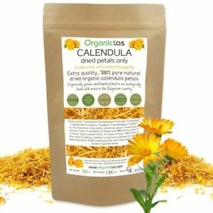 Organic Calendula Petals Tea Premium Quality Calendula Officinalis Marigold 50g