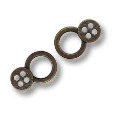 10 Stück Ring-Ösen Mieder-Ösen incl Nieten zu Befestigung Schwarz Neu