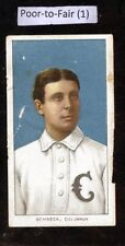 1909-11 T206 Ossee Schreck Columbus Piedmont Back Fact. 25 Poor Back Damage