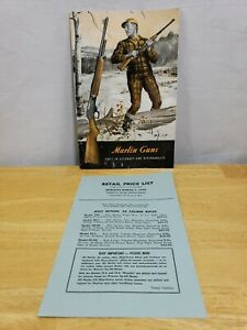 Vintage Marlin Guns 1956 Catalog & Gun  Price List Marlin Firearms Co.
