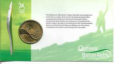 Melbourne 2006 Commonwealth Games Queen's Baton Relay AU $5 Coin/carded