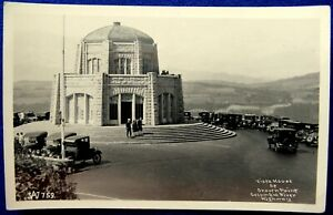 Ca 1920-30s RPPC Vista House At Crown Point Columbia River Highway Series #759