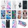 For Sony Xperia 10 Plus L3 Flip Painted Leather Case Magnetic Wallet Stand Cover