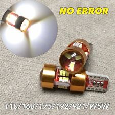 2x T10 LED 6000K bulb No Canbus Error Parking w5w 168 194 12961 27SMD for V W