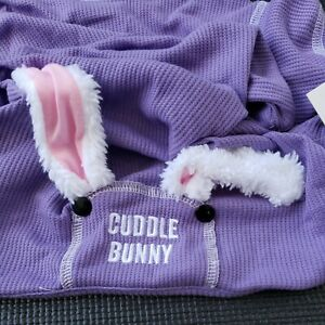 Cuddle Bunny Pet Pajama Embroidered Jumpsuit Clothing Four Leg Easter Rabbit