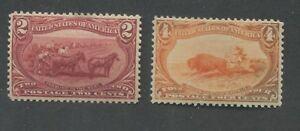 1898 United States Postage Stamps #286-287 Mint Regummed Very Fine