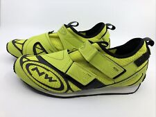 Northwave Trend Mens Cycling Multisport Shoes Yellow Sz 9.5 EUR 42 Breatheable