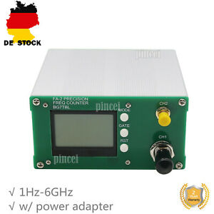 1Hz-6GHz Frequency Counter Meter Statistical Function 11 bits/sec w/ Power DE
