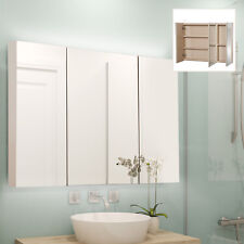 Triple Door Led Wall-Mount Bathroom Mirrored Cabinet Storage Closet Illuminated