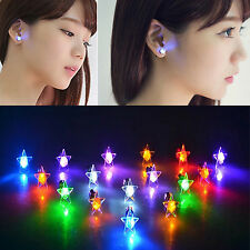 LED Star Earrings Light Up Bling Ear Studs Club KTV Bar Party Boucles d'oreilles
