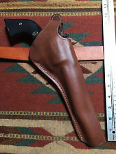 "Ruger Super Blackhawk 7 1/2"" Dual Two Position Leather Holster Cross Draw Used"
