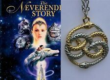 The Never Ending Story Two Snakes Auryn Gold/Silver Pandemonium Pendant Necklace