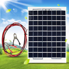 10W 12V Portable SOLAR Panel TRICKLE BATTERY CHARGER For Car RV Camp Marine