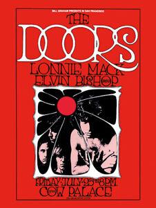 Sixties - The Doors at the Cow Palace Concert poster reprint (1969)
