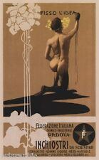Fisso L'Idea, 1899 Italian Vintage Art Nouveau Giclee Canvas Print 20x32