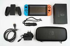 Nintendo Switch Konsole (neue Edition) OVP Zubehörpaket (Offizielle Tasche)