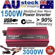 1500W-3000W DC 12V to AC 240V Portable Car Power Inverter Charger Converter U EC