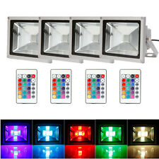 Lot4 20W RGB LED Flood Light Spot Light Outdoor Lamp IP65 Remote Control Memory