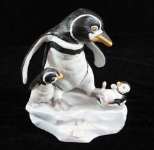 The Franklin Mint Hand Painted Porcelain Penguin Figurine 'Wow' Michelle Emblem