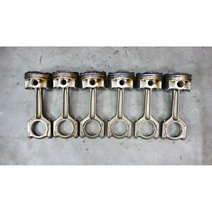 BMW N55 6-Cylinder Twin-Scroll Turbo Piston and Connecting Rod Set of 6 OEM