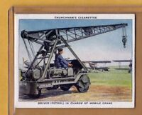 1937 Churchman The RAF At Work #38 Driver Mobile Crane Operator Near Mint