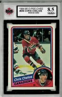 1984-85 OPC #259 Chris Chelios RC Graded 8.5 NMM+ (*050819-79)