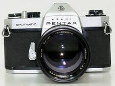 Pentax Spotmatic SPII 35mm SLR Camera with Vivitar 135mm f/2.8 Telephoto Lens