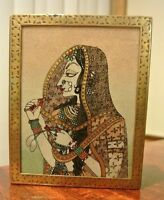 Beautiful Indian Hand Made Hand Crafted Brass and Gem Inlay Wooden Trinket Box