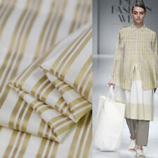 Gold and white stripe print silk cotton satin fabric silk blending cotton,SCT355