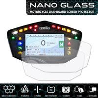 Aprilia Tuono V4 1100 (2017+) NANO GLASS Tableau de Bord Protecteur d'écran x 2