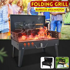 Portable Folding Steel BBQ Grill Charcoal Barbecue Outdoor Camping Party Picnic