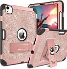 Glitter Sparkly Case For Ipad Air 4Th Generation 3 Layers Shockproof Kickstand