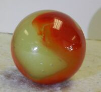 #12084m Large Akro Agate Cherryade Corkscrew Shooter Marble .99 Inches Near Mint